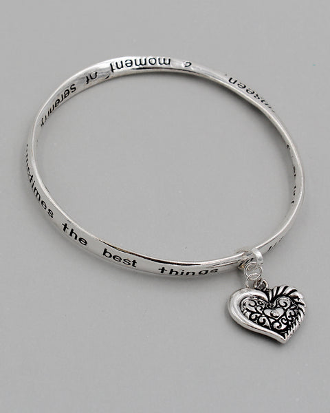 GRANDMA Inspirational Bangle Bracelet with Charm