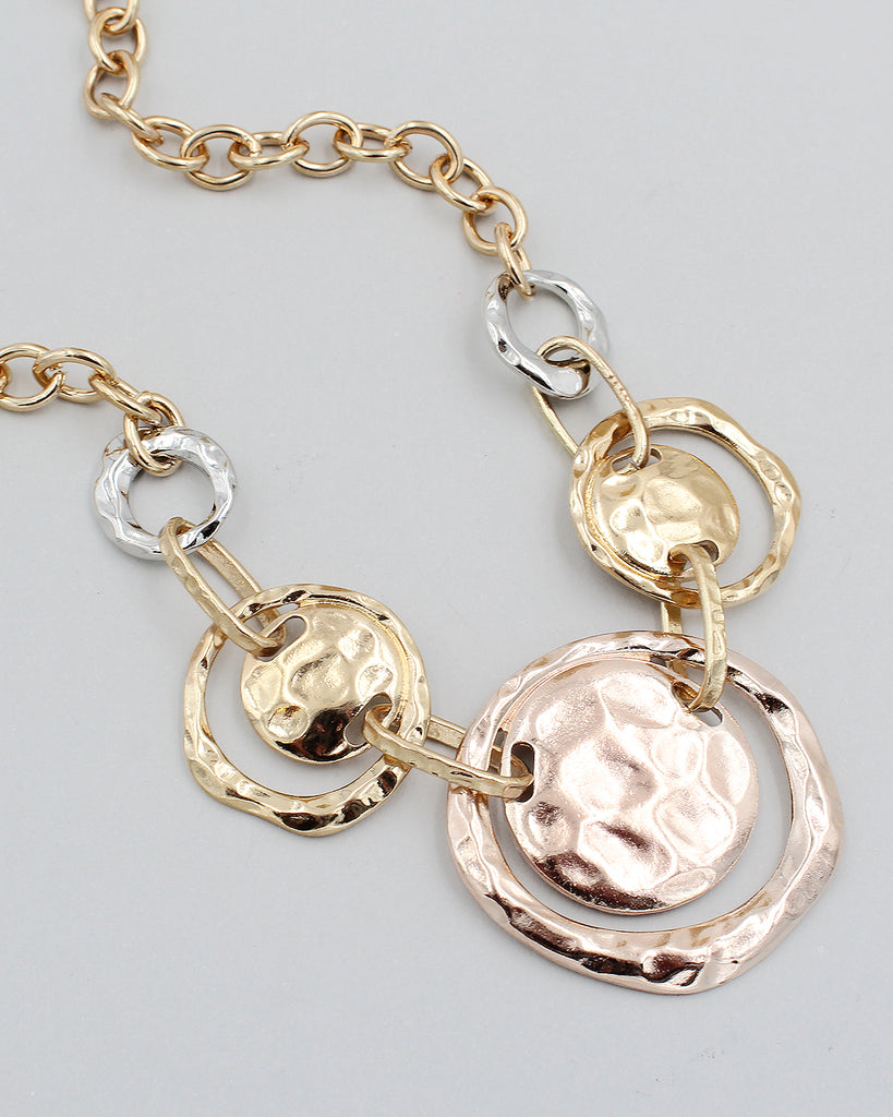 Rippling Metal Fashion Necklace Set