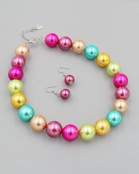 20mm Pearl Beaded Necklace Set