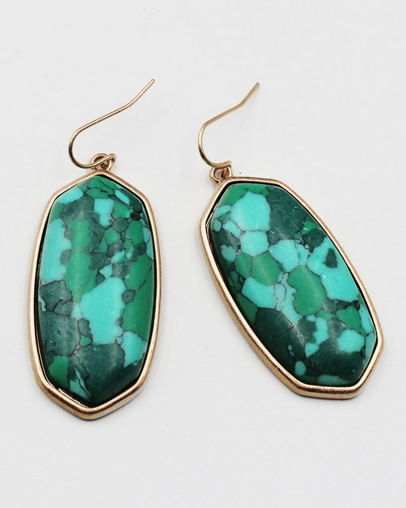 Onyx Stone Statement Earrings