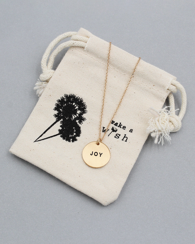 JOY Pedant Necklace with Pouch