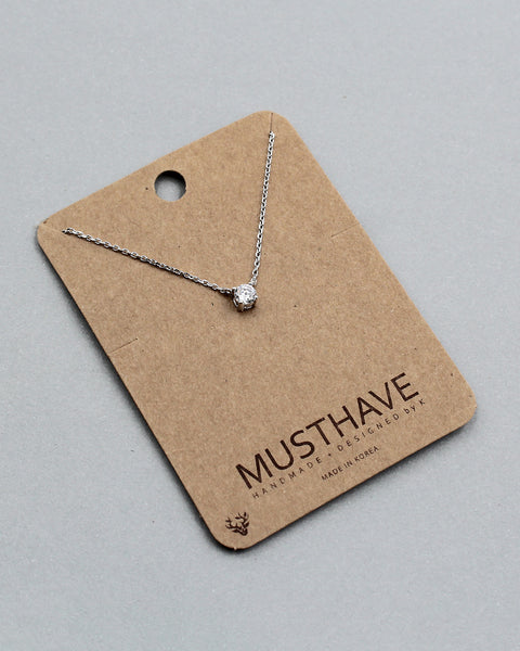Brilliant Cut Stud Necklace
