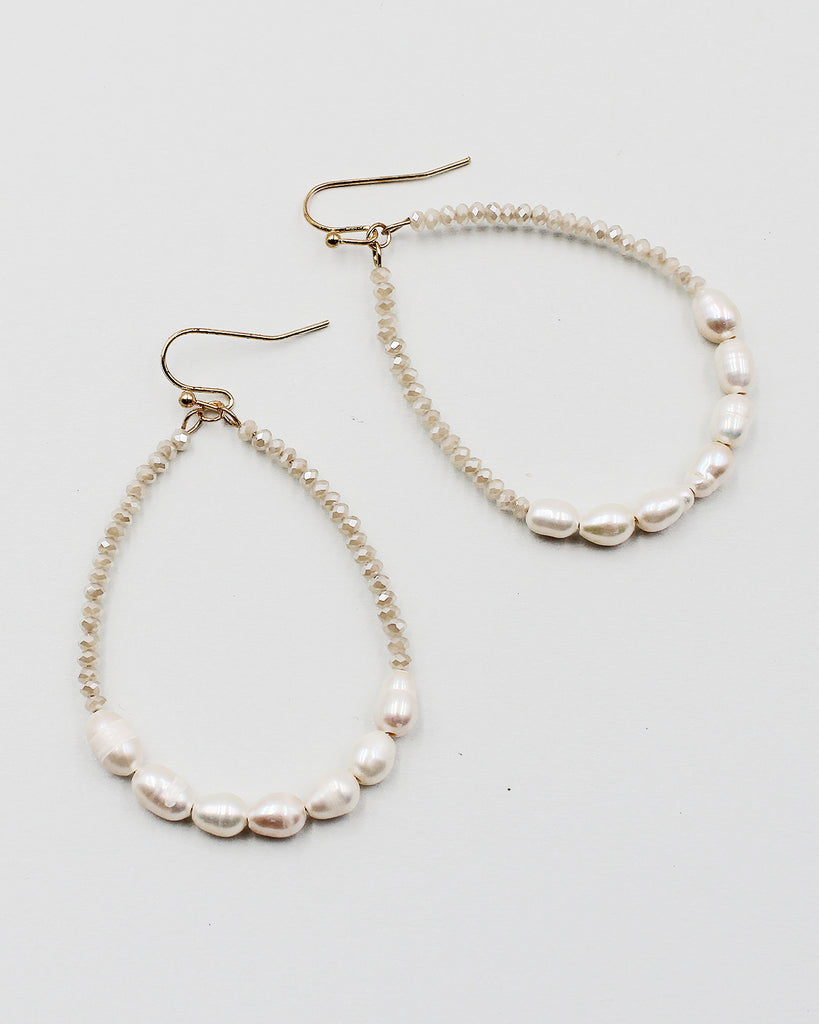 Rhinestone Strand Beaded Top Earrings