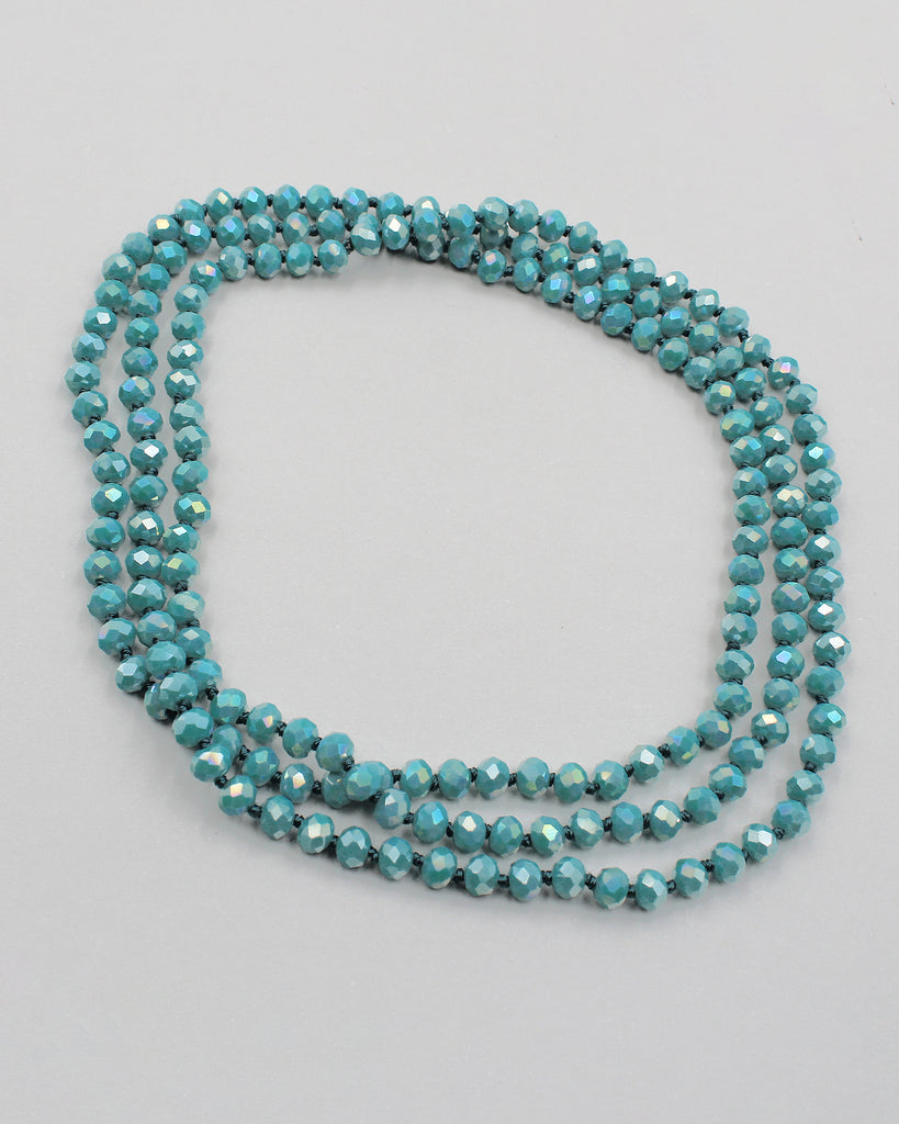 "60"" Knotted Crystal Beads"