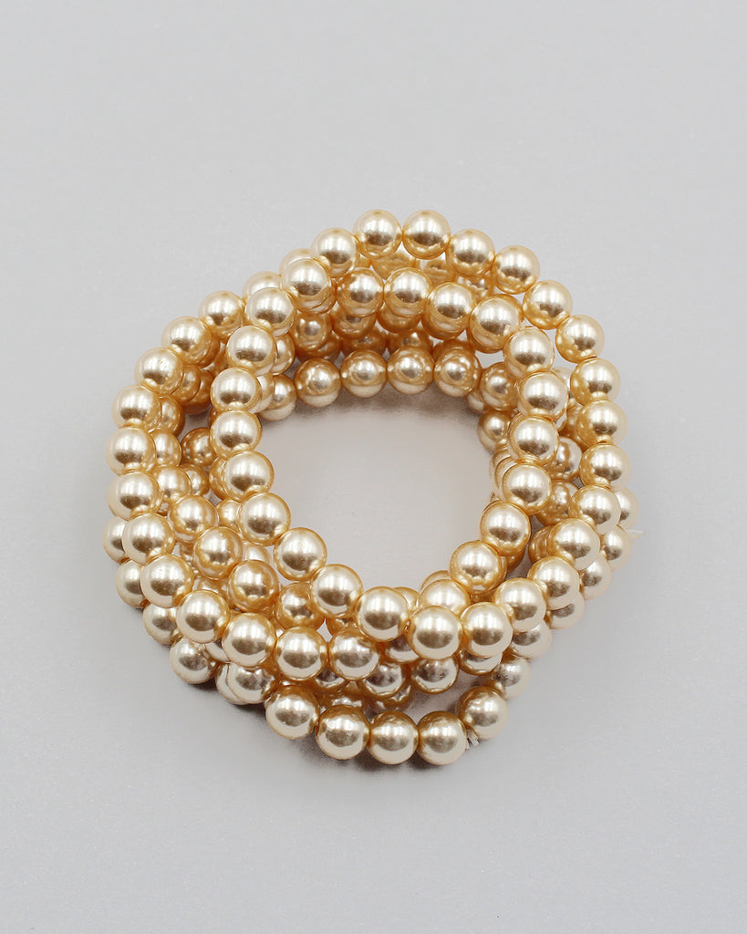 8PC Layering Pearl Bracelet Set