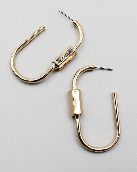 Carabiner Lock Earrings