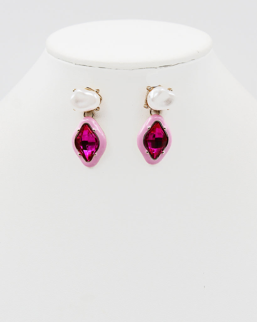 Graduated Multi-Row Pearl Dangle Earrings