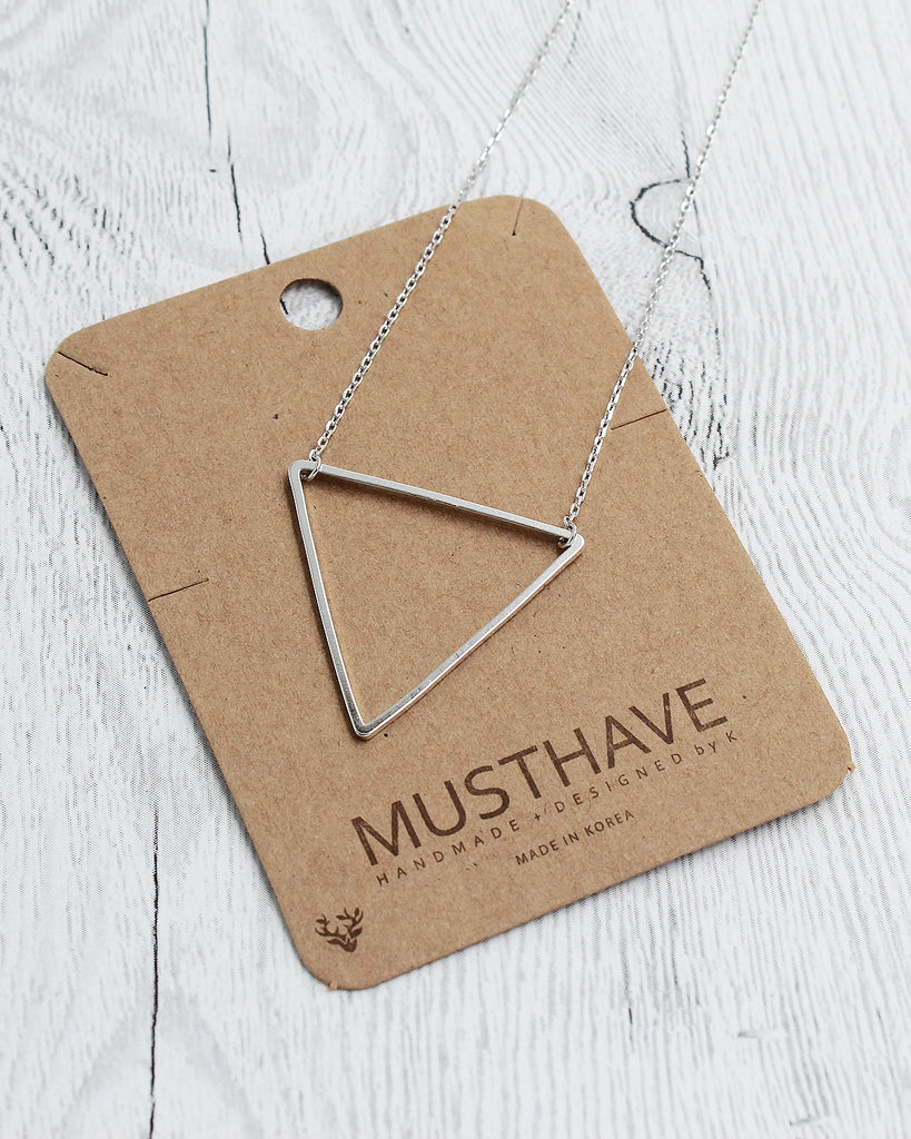Triangle Dainty Pendant Card Necklace