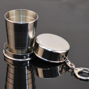 100% Brand New High Quality Steel Travel Telescopic Collapsible Shot Glass Emergency Pocket Water Bottles Free Shipping