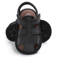 2017 Summer Child Shoes Boys Soft Leather Sandals Baby Boys Summer Prewalker Soft Sole PU Leather Beach Sandals Kids Sneakers