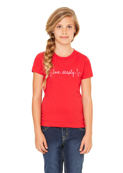 Girl's Heartbeat Short Sleeve Tee