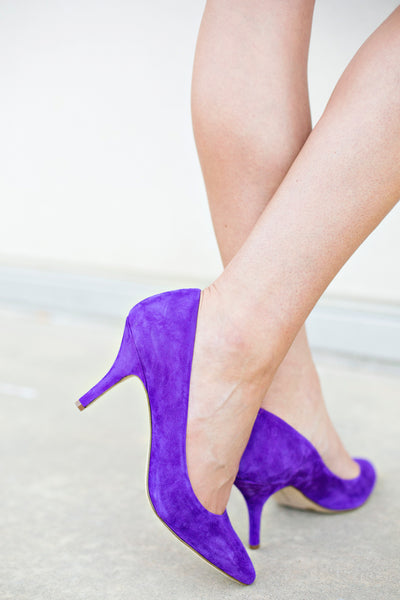Purple Suede Pump