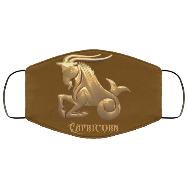 capricorn face mask brown