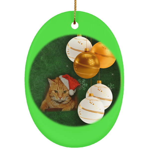 tabby cat christmas ornament