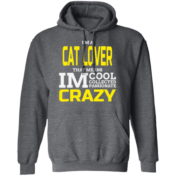 dark heather Cat Gift Pullover Hoodie