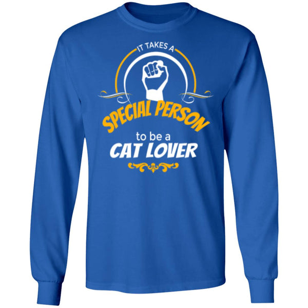 royal blue Long Sleeve T-Shirt It Takes A Special Person To Be A Cat Lover