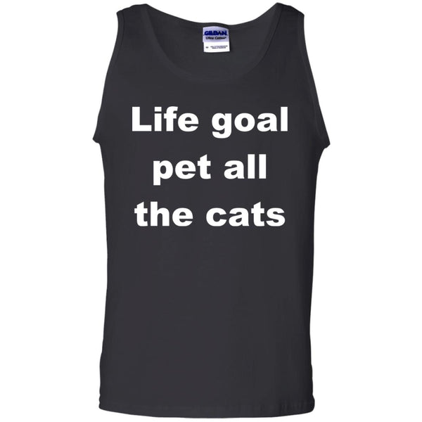 Black Cat Tank top - Life Goal Pet All The Cats