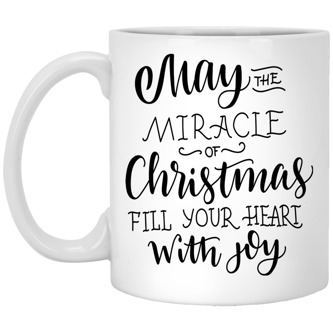 Christmas Coffee Cup May The Miracle Of Christmas Fill Your Heart 11 oz Ceramic Christmas Mug