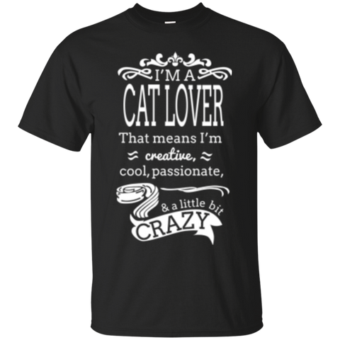 Custom Tee Cool Passionate Cat Lover
