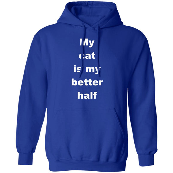 Royal Blue Cat Pullover Hoodie - My Cat Is My Better Half