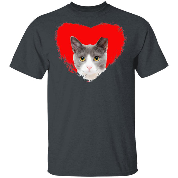 Dark Heather Cat T-Shirt I Love Cats