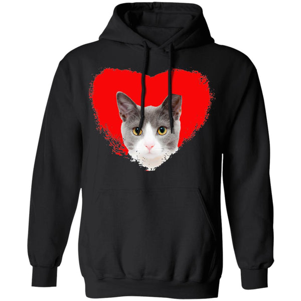 Black Cat Pullover Hoodie I Love Cats