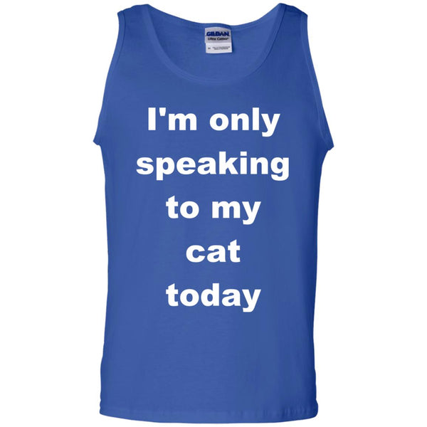 Royal blue Cat Tank Top - I'm Only Speaking To My Cat Today