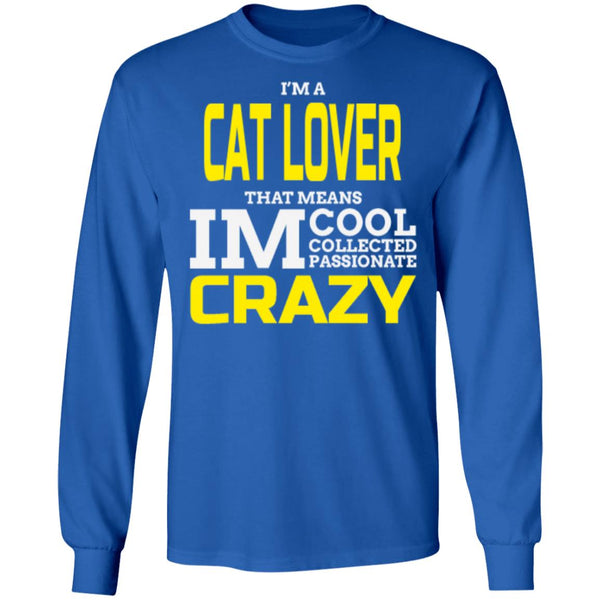 royal blue Cat Gift Long Sleeve T-Shirt