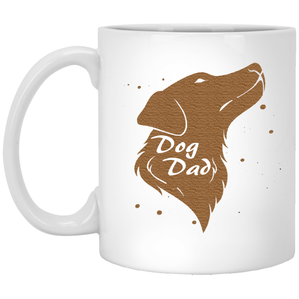 11 oz white Dog dad mug