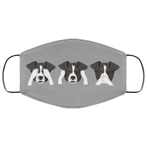 Funny Dog Print Face Mask gray