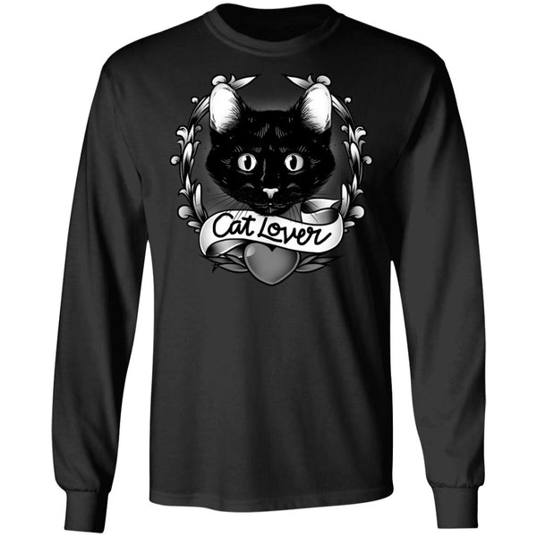 Black Cat Lover Cotton Long Sleeve T-Shirt