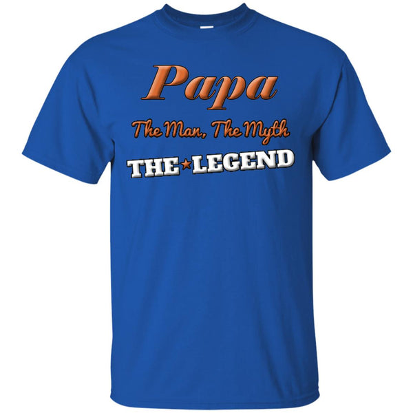 Papa The Man The Myth The Legend T-Shirt, Cool Fathers Day or Birthday Gift Dad Or Grandpa