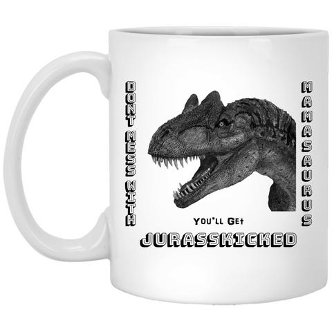 MamaSaurus White Or Black Coffee Mug Gift For Mom