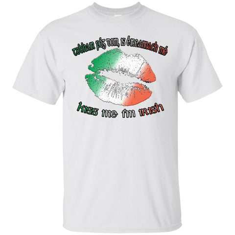 St Patricks Day Tee, Unisex Cotton T-Shirt, Irish Saying Tshirt, Kiss Me Im Irish, Green Tee