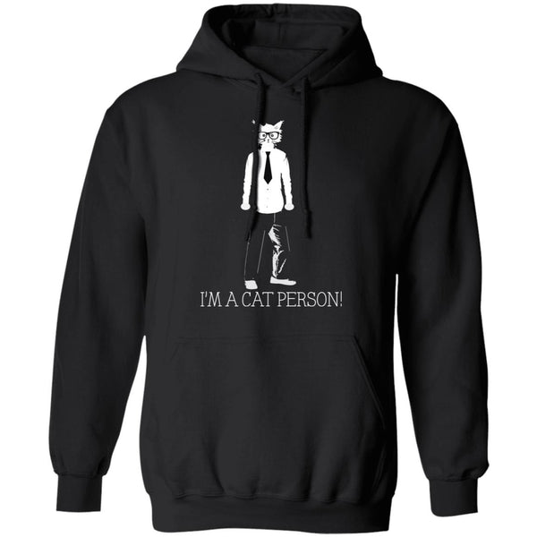 Black Pullover Hoodie Gift For Cat Lovers I'm A Cat Person