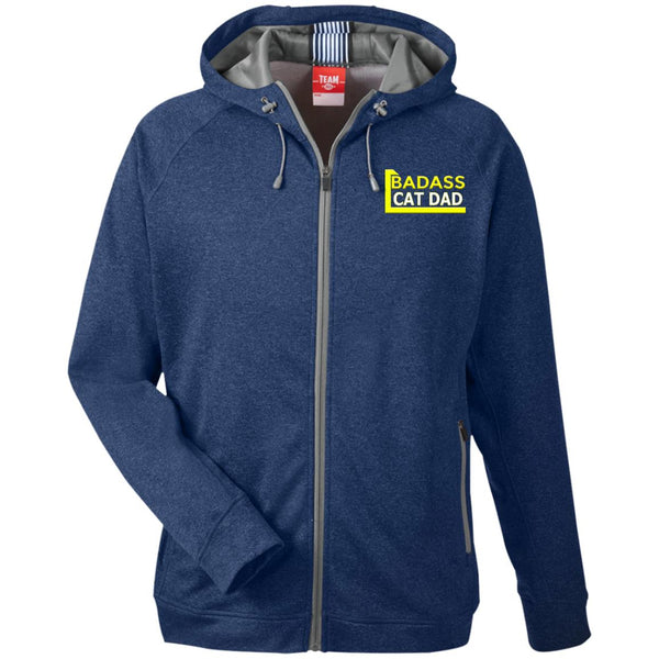 Navy Cat Lover Hooded Jacket - Badass Cat Dad