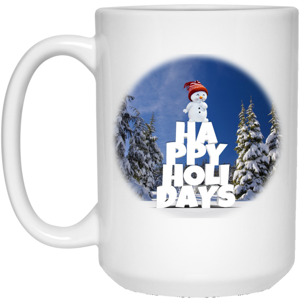 15 oz White Snow Baby Happy Holidays - Christmas Mug