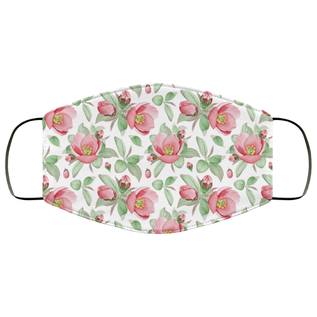 floral dog roses face mask