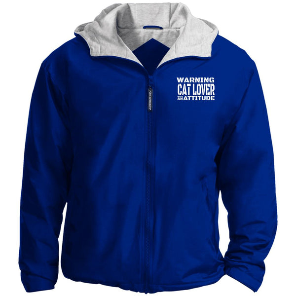 Royal Blue Warning Cat Lover With An Attitude Port Authority Team Jacket