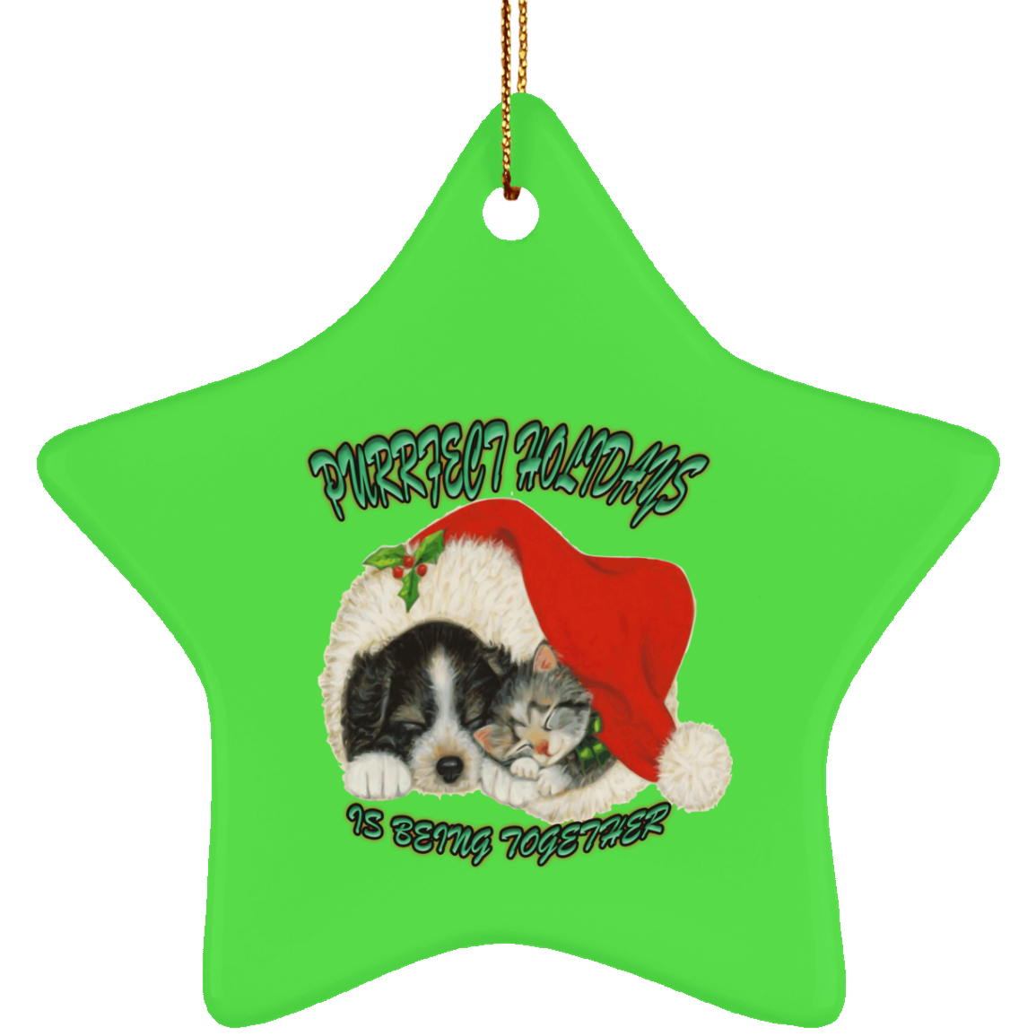 cat christmas ornaments dog and santa hat tree