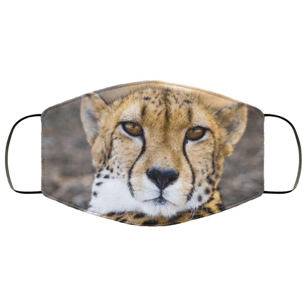 Lightweight Cheetah Adult Face Mask