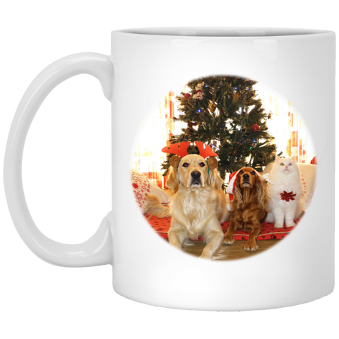 cat and dogs coffee mug