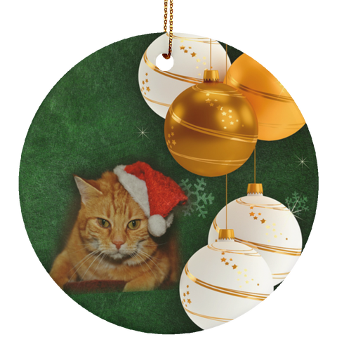orange cat christmas ornaments