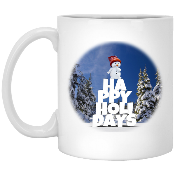 11 oz White Snow Baby Happy Holidays - Christmas Mug