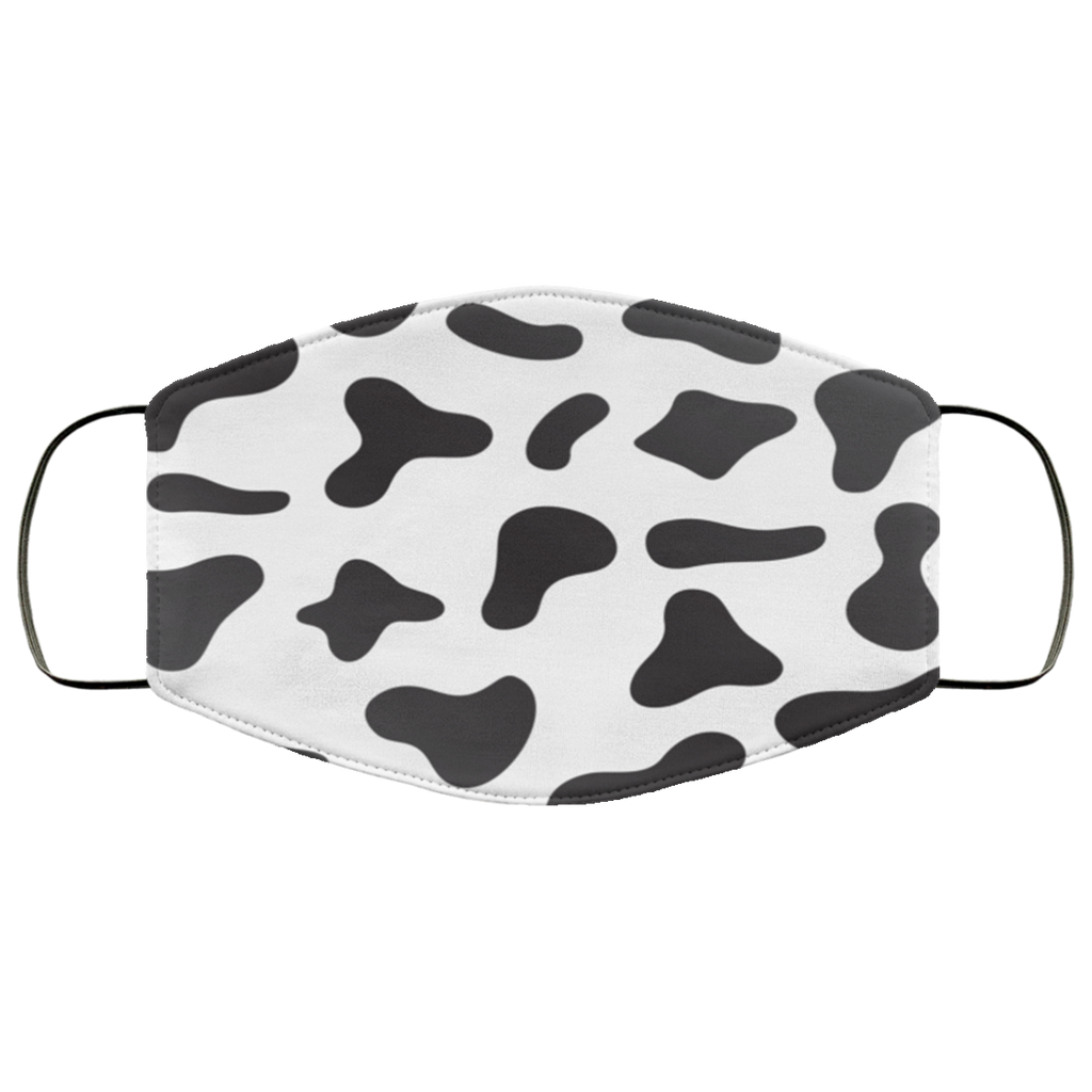 Cow Skin Pattern Face Mask