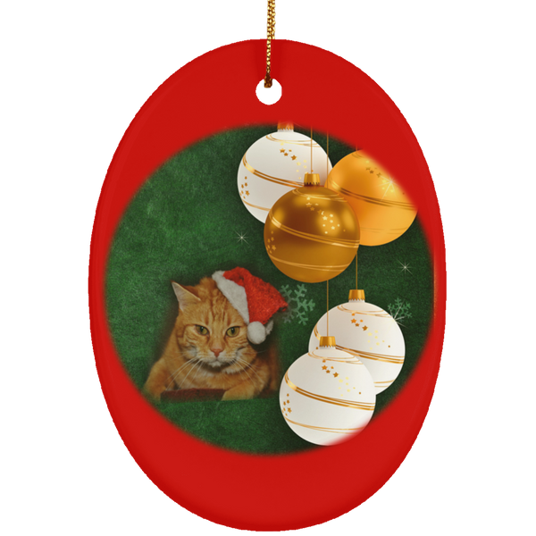 furry cat christmas ornaments