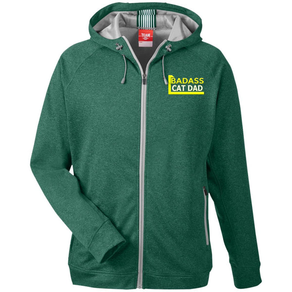 Green Cat Lover Hooded Jacket - Badass Cat Dad