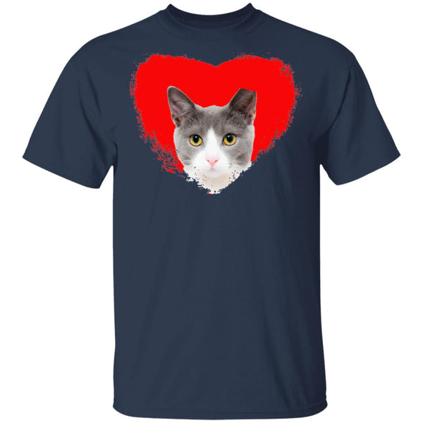 Navy Cat T-Shirt I Love Cats