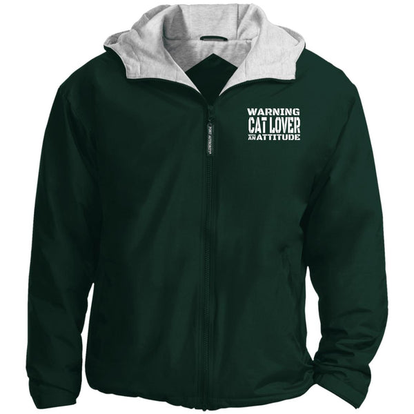 Green Warning Cat Lover With An Attitude Port Authority Team Jacket