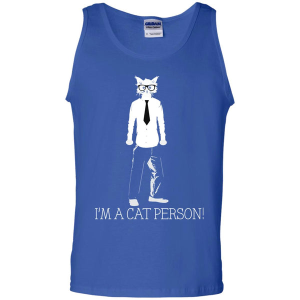 Royal Blue Tank Top Gift For Cat Lovers I'm A Cat Person